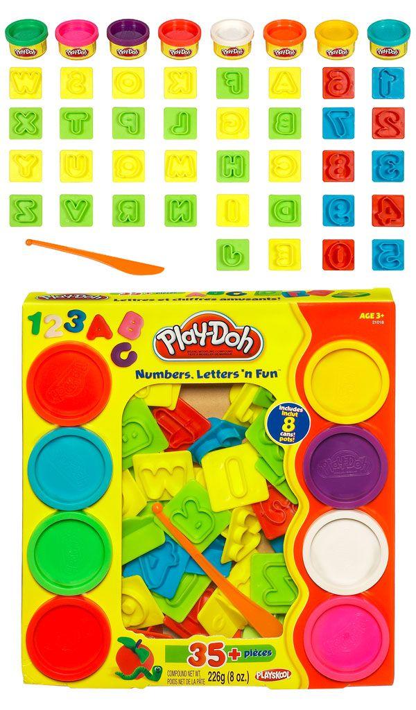 Conjunto Play Doh Letras e Números 21018 Hasbro