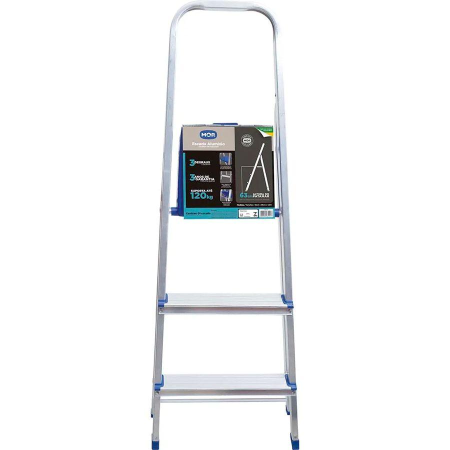 Escada Alumínio 3 Degraus 5101 Mor