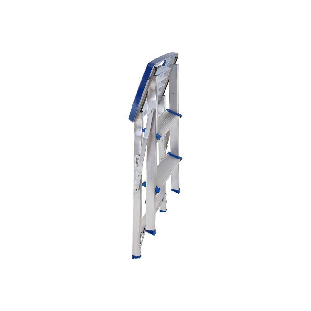Escada Banqueta Alumínio 3 Degraus 5107 Mor