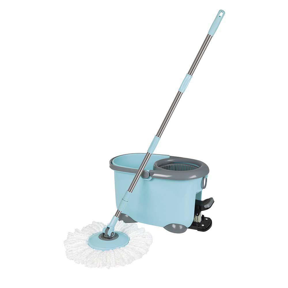 Esfregão Mop com Pedal Limpeza Prática Ref 8296Mor
