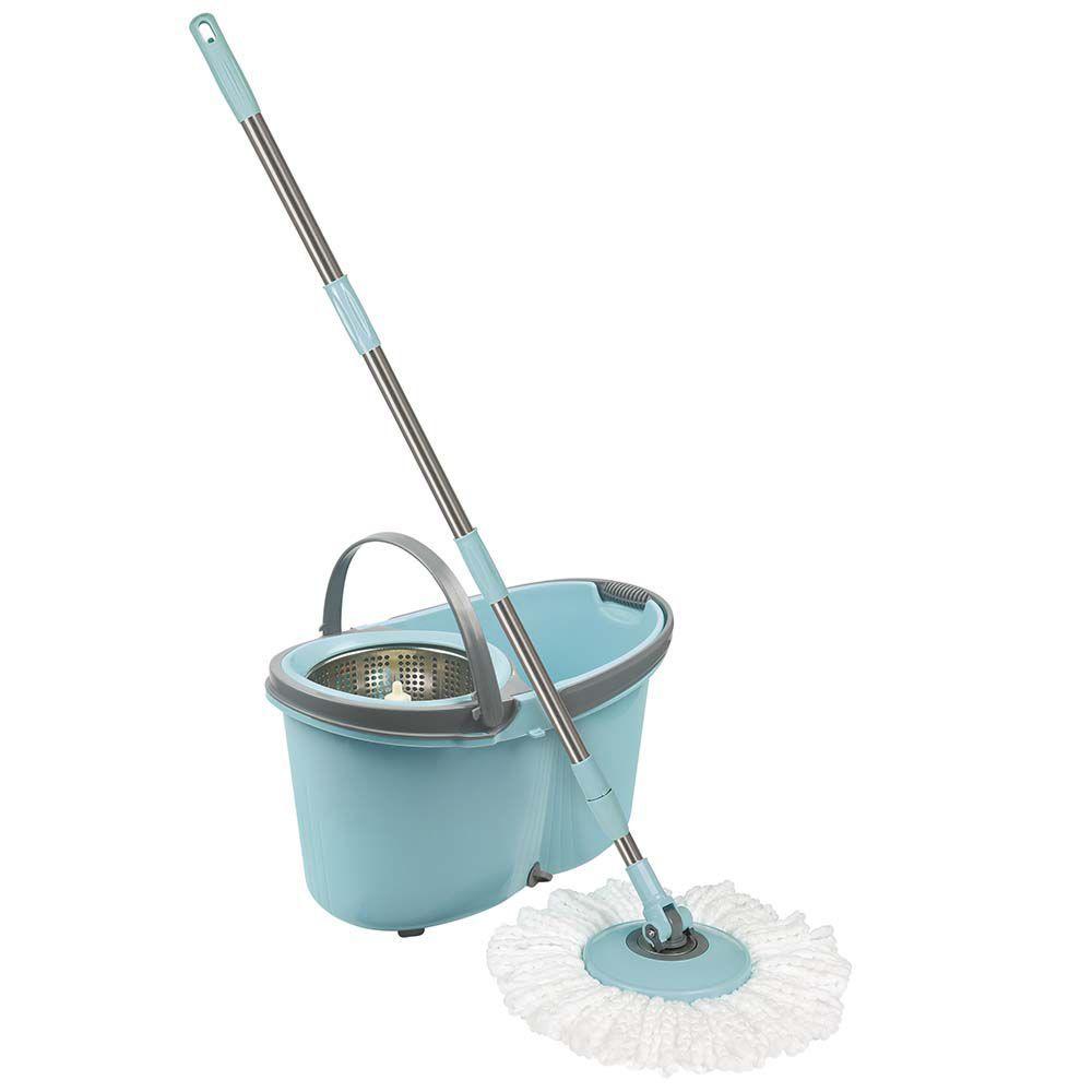 Esfregão Mop com Rodinhas Limpeza Prática 8295 Mor