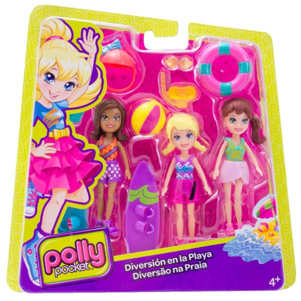 Férias da Polly Conjunto 3 Bonecas Sortido DHY52 Mattel