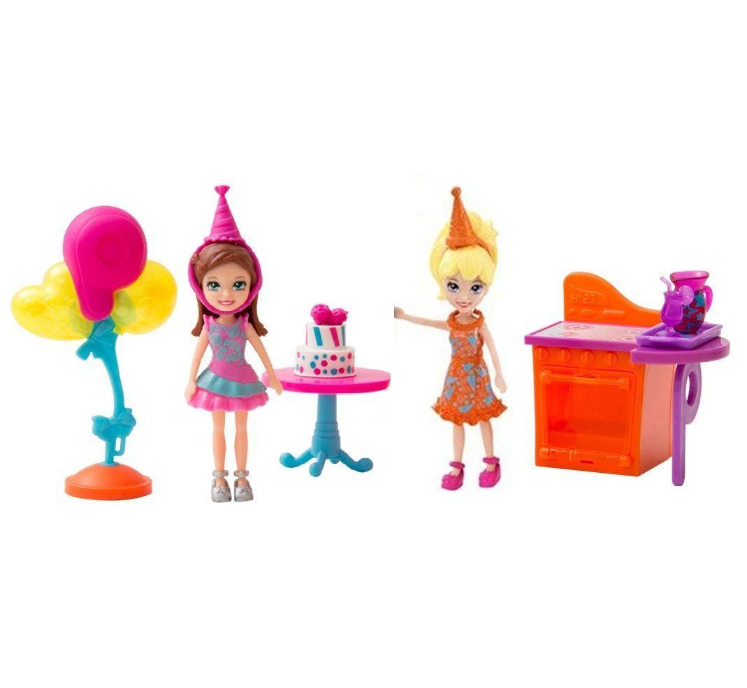 Festa de Aniversário da Polly Pocket DWC24 Mattel