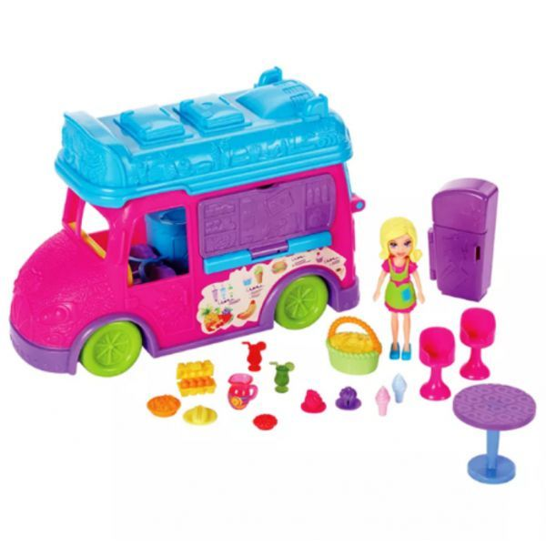 Food Truck Divertido Polly Pocket FPH98 Mattel