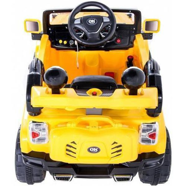Jipe Elétrico 12V Trilha Amarelo Com Controle Remoto 927600 Belfix