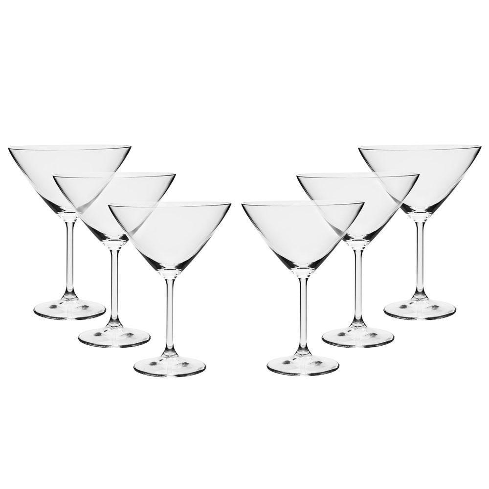 Jogo 6 Taças Martini 280ml Cristal Eco Gastro 56761 Bohemia