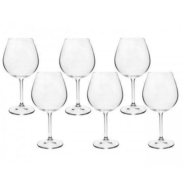 Jogo 6 Taças Vinho 650ml Cristal Eco Gastro 56140 Bohemia
