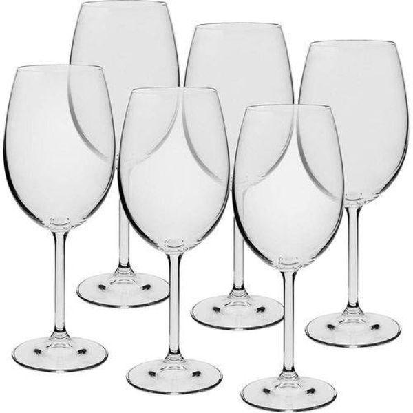 Jogo 6 Taças Vinho Tinto 450ml Cristal Eco Gastro Bohemia
