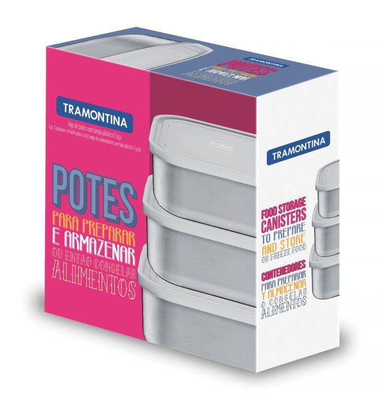 Jogo de Potes 3 Peças Aço Inox Freezinox 64220/920 Tramontina