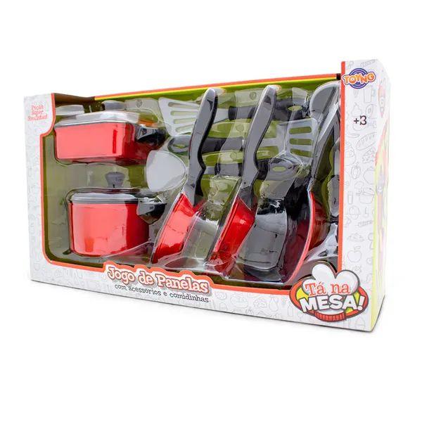 Jogo de Panelas com Acessórios e Comidinhas Vermelho 36926 Toyng
