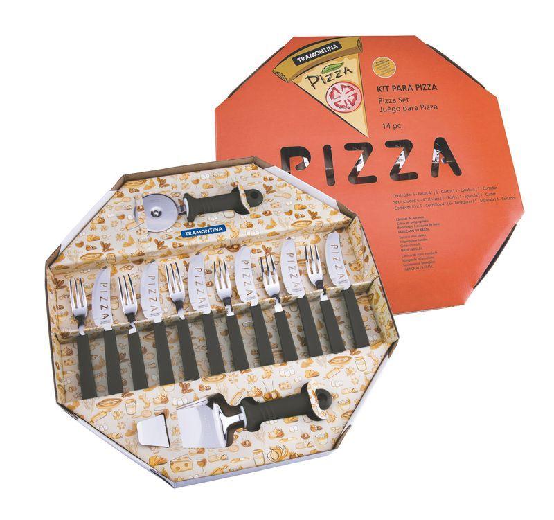 Kit Pizza  14 Peças Preto 25099/022 Tramontina