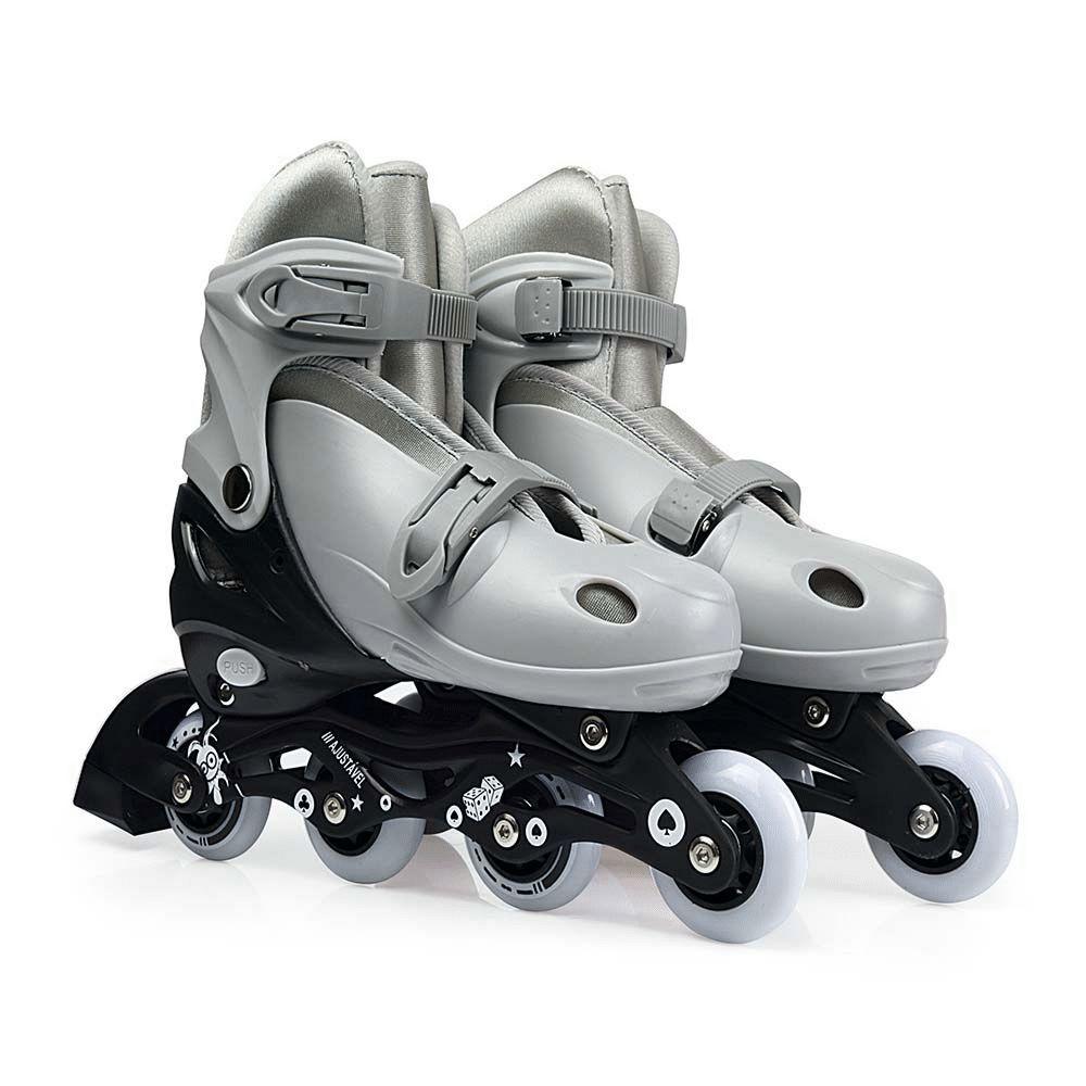 Kit Roller Cinza Tamanho M 34-37 40600104 Mor