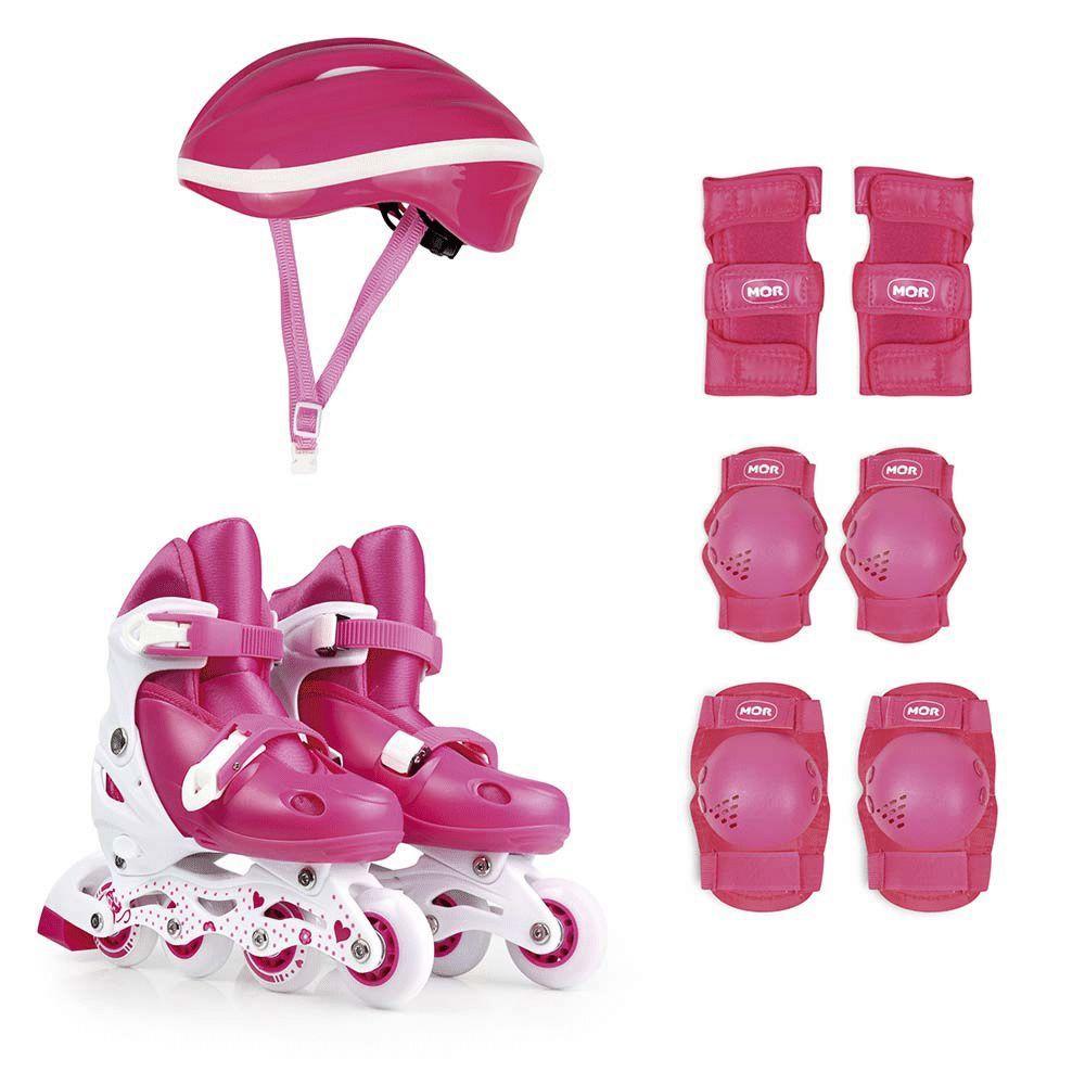 Kit Roller Rosa Tamanho M 34-37 Ref 40600103Mor