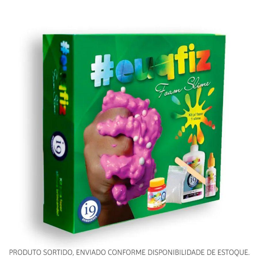 Kit Slime #euqfiz 1 Foam Slime Sortido BRI0219 Brinquedos