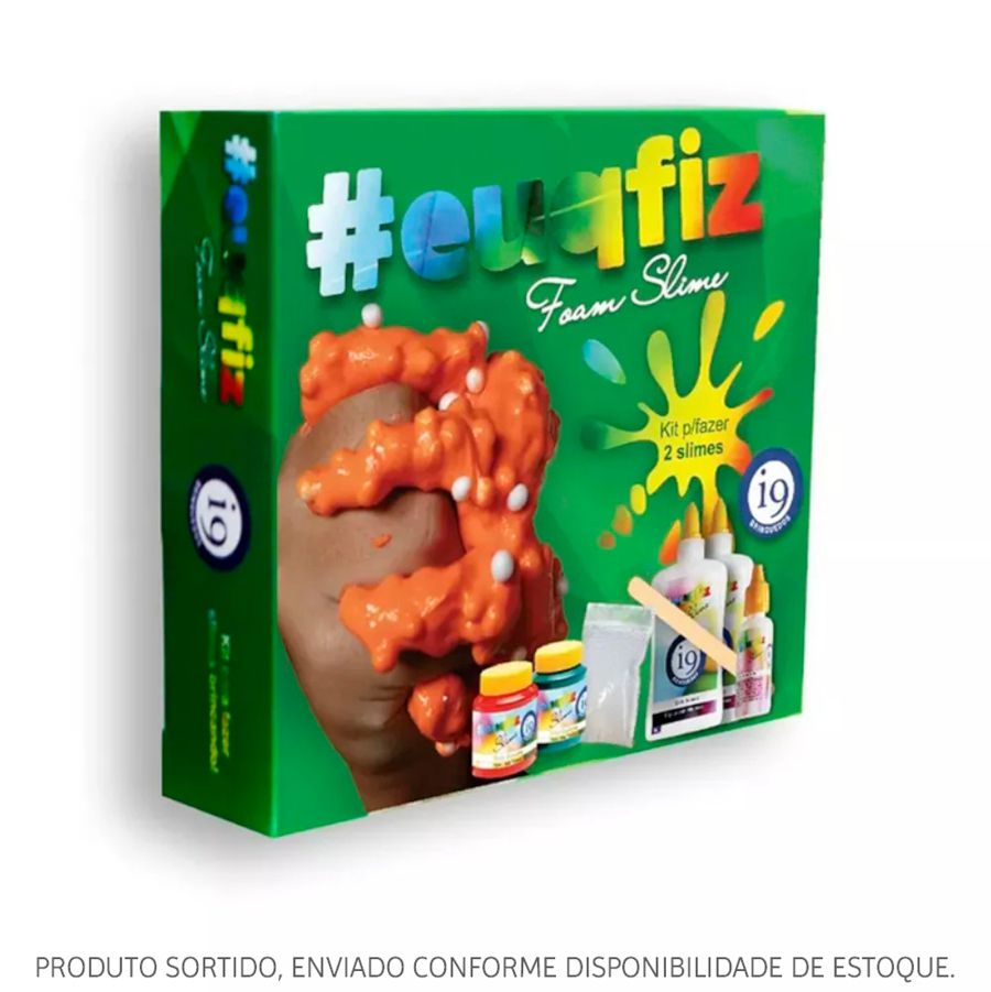 Kit Slime #euqfiz 2 Foam Slime Sortido BRI0223 i9 Brinquedos