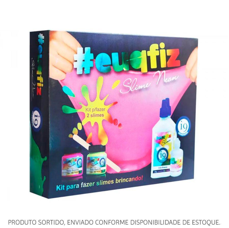 Kit Slime #euqfiz 2 Slime Neon Sortido BRI0217 i9 Brinquedos