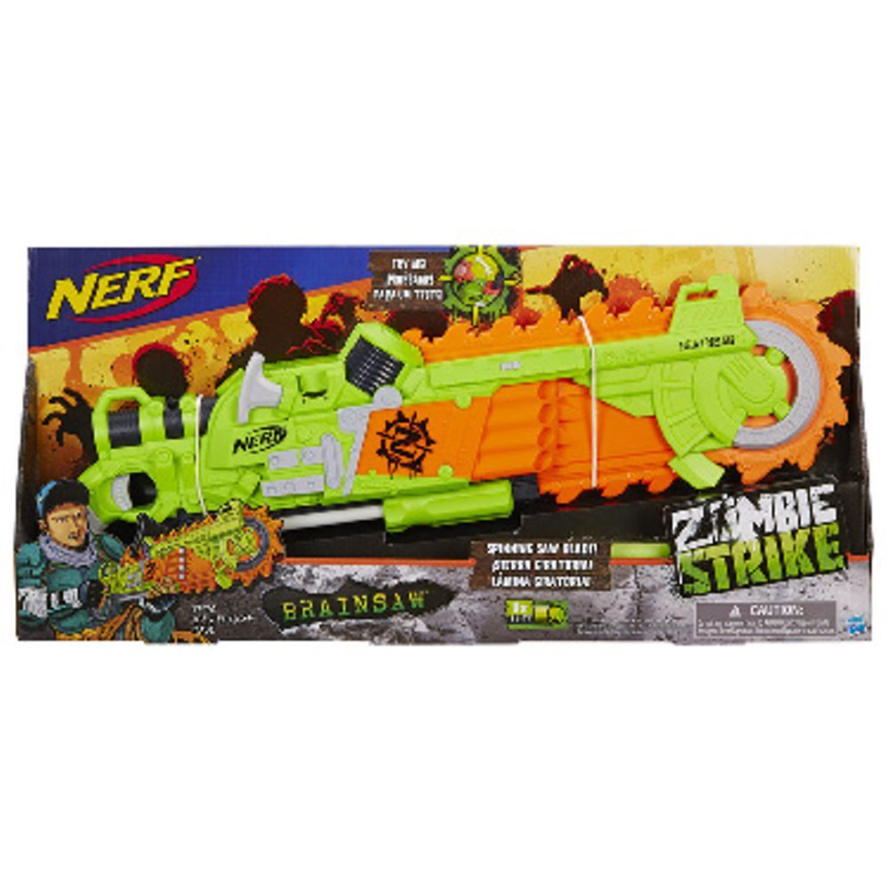 Lança Dardo Nerf Zombie Brainsaw  B3570 Hasbro