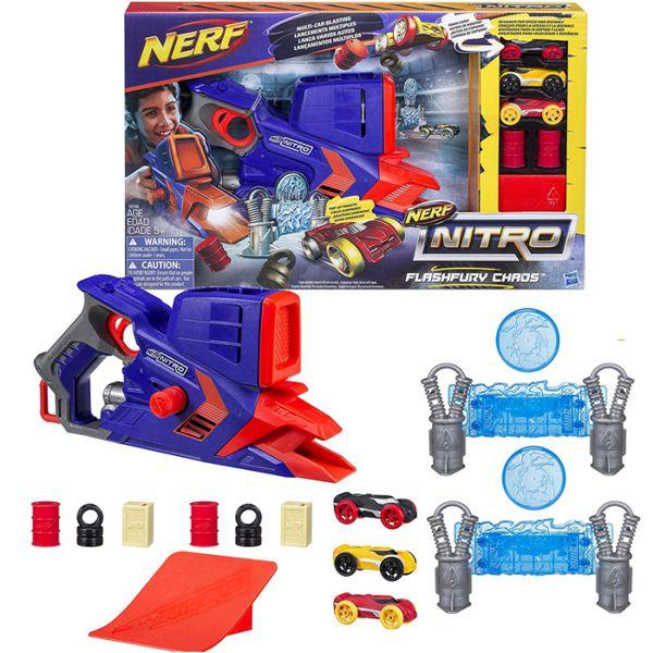 Lançador de Carro NERF Nitro Flashfury Chaos C0788 Hasbro