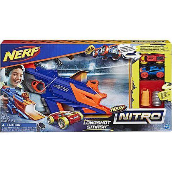 Lançador de Carro NERF Nitro Longshot Smash C0784 Hasbro