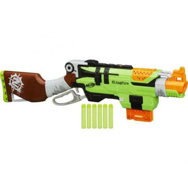 Lançador de Dardos NERF Zombie Strike Slingfire A8773 Hasbro