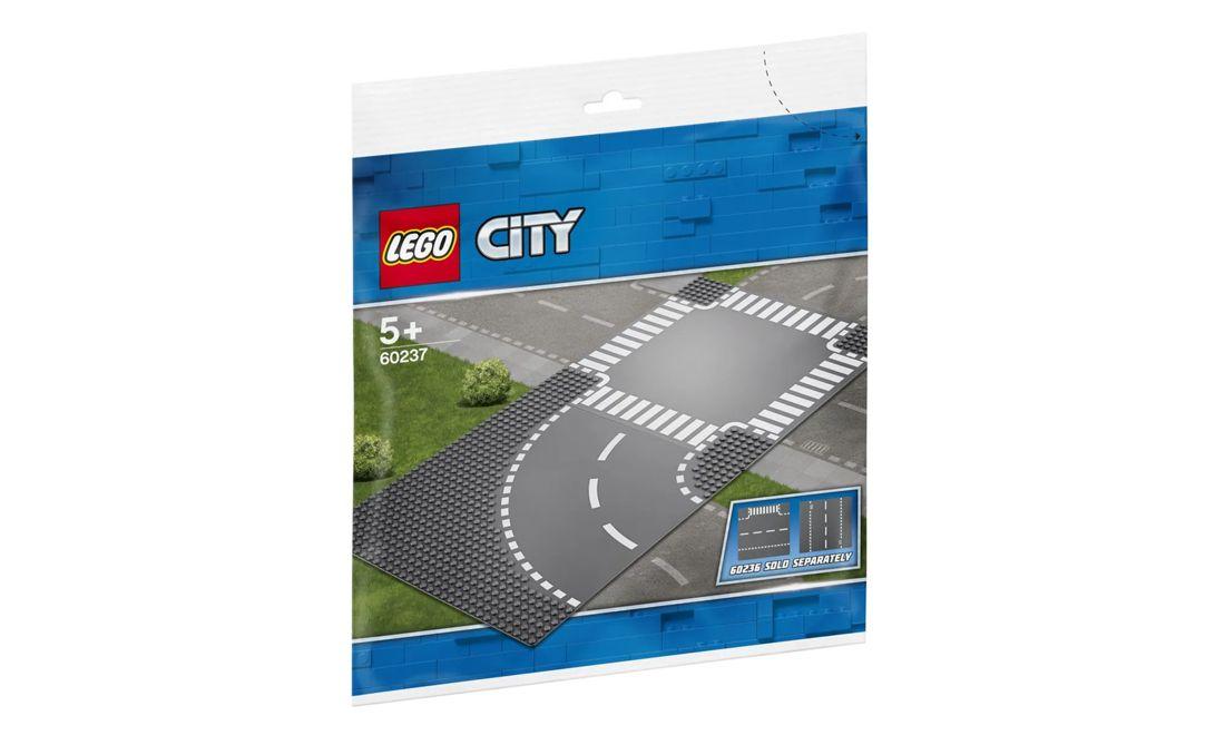 Lego City Curva e Cruzamento 2 Peças 60237 Lego