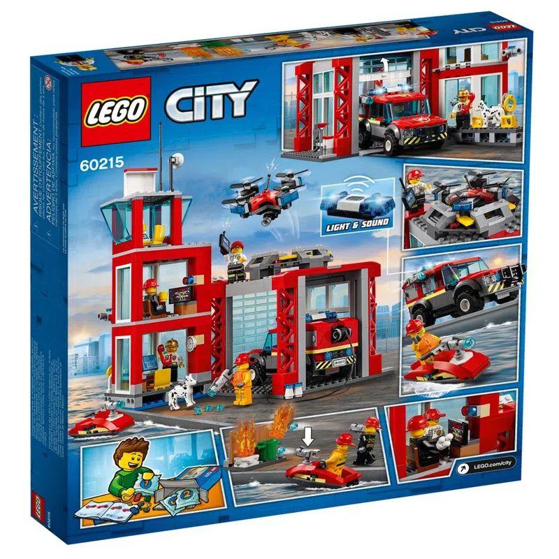 LEGO City Quartel General dos Bombeiros 509 Peças 60215 Lego