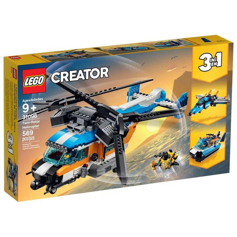 LEGO Creator 3 em 1 Helicóptero com 2 Hélices 569 Peças 31096