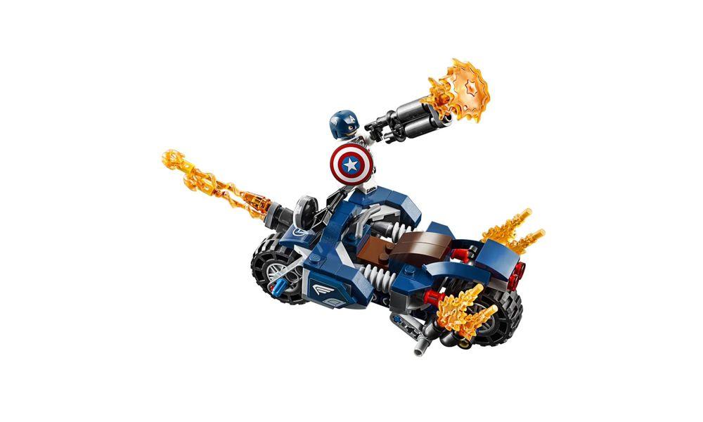 Lego Marvel Capitão América: Ataque Outriders 167 Peças 76123 Lego