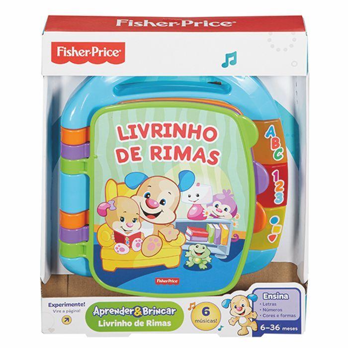 Livrinho de Rimas Aprender e Brincar CDH62 Fisher Price