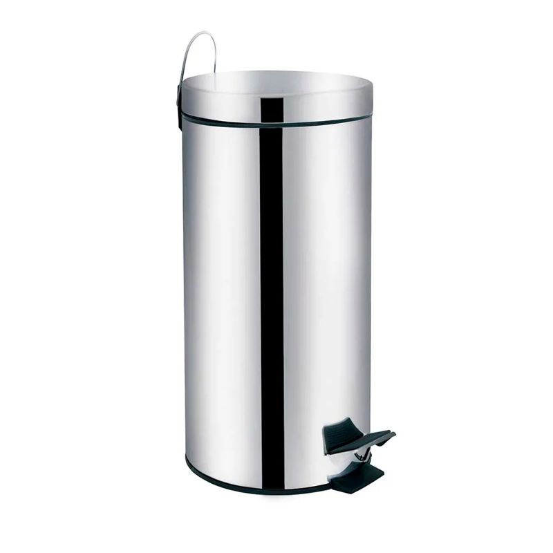 Lixeira 30 Litros Ágata Inox 8225 Mor