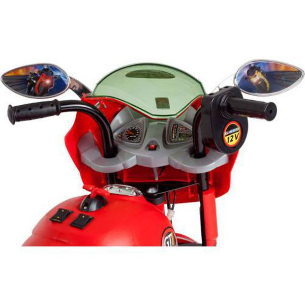 Moto Elétrica 12V Super Moto GT Turbo Vermelha 2551 Bandeirante