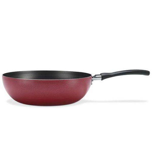 Panela Wok 24cm 2,3L Garlic Vermelho 7001/365 Brinox