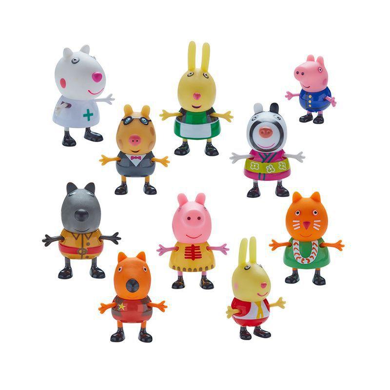 Peppa Pig Fantasia 10 Figuras 4859 - Dtc