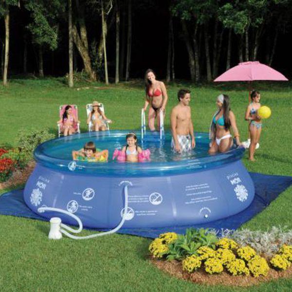Piscina 9000 Litros Redonda Splash Fun Ref 1056Mor