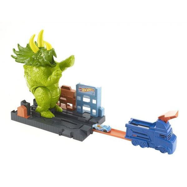 Pista Ataque de Triceratops Hot Wheels GBF97 Mattel