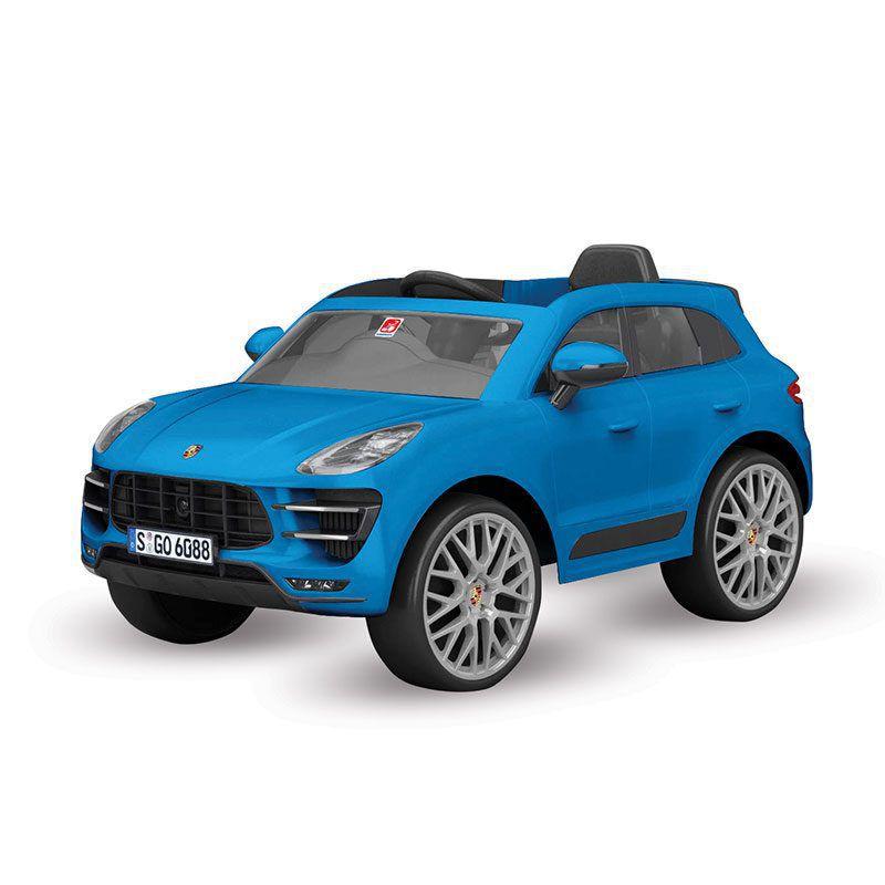 Carro Elétrico 12V Porsche Macan Azul Com Rádio e Controle Remoto 2637 Bandeirante