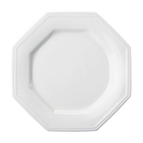 Prato Sobremesa 20cm Linha Prisma Branco Porcelana Schmidt