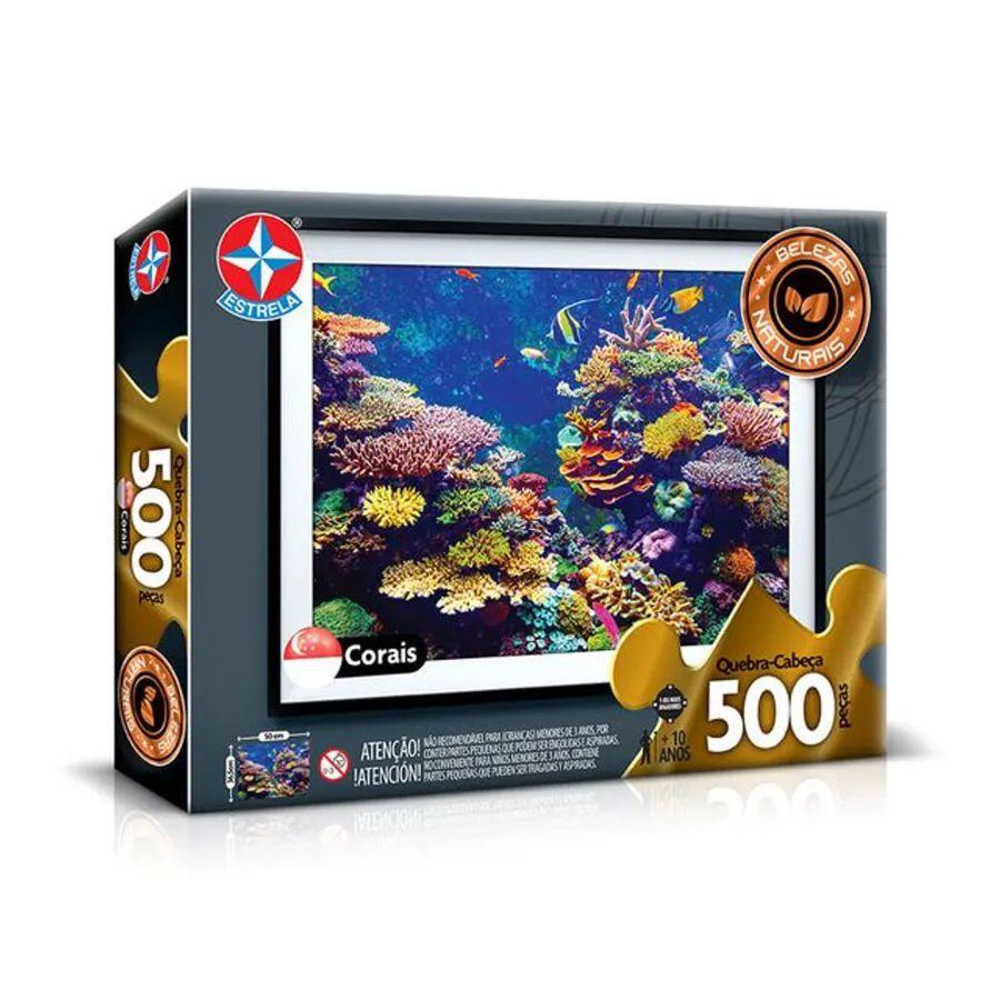 Quebra-Cabeça 500 Peças Corais Belezas Naturais Estrela