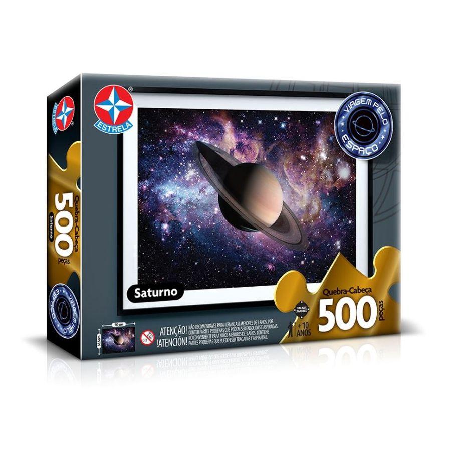 Quebra-Cabeça 500 Peças Saturno Viagem pelo Espaço Estrela