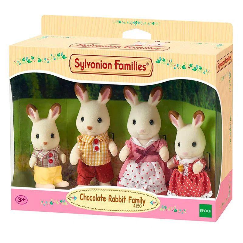 Sylvanian Families Família Coelhos Chocolate 4150 Epoch Magia