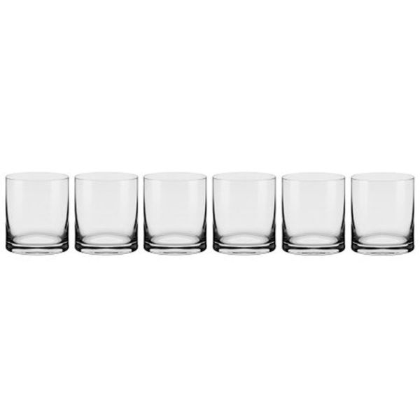 Taça Cristal Linha Flat On The Rocks 6 peças 390ml Oxford