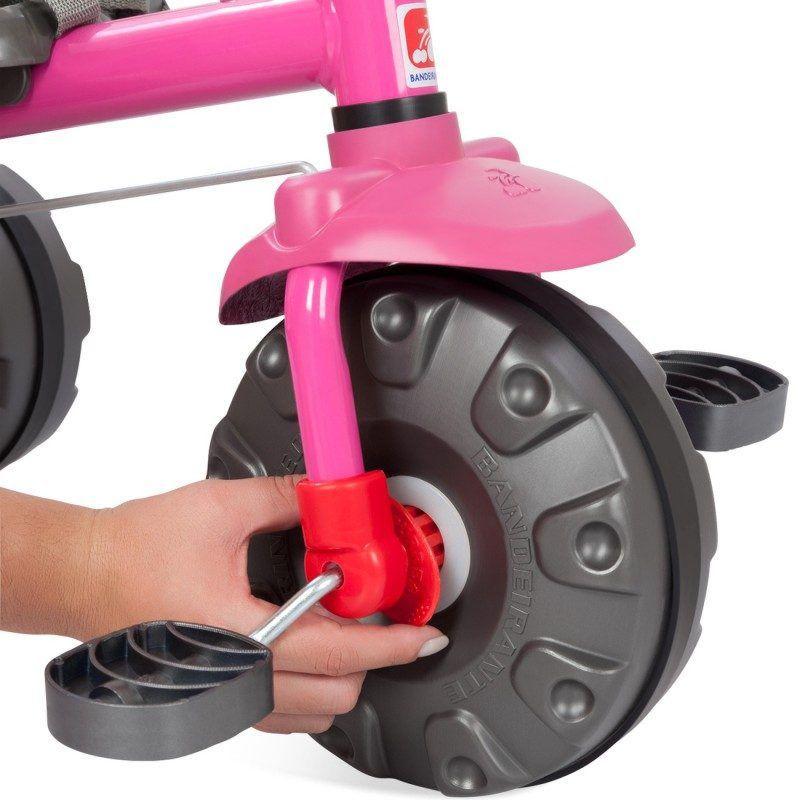 Triciclo Smart Plus Rosa 281 Bandeirante