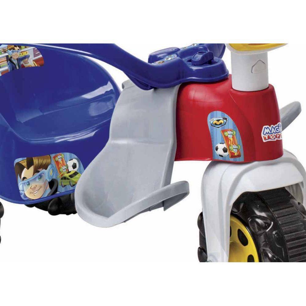 Triciclo Tico Tico Zoom Max com Aro Azul 2710 Magic Toys