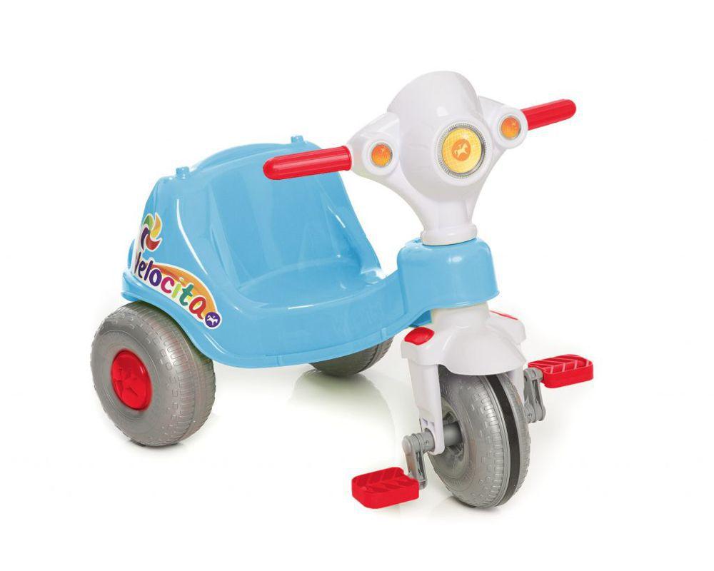 Triciclo Velocita 2 em 1 Azul 953 Calesita