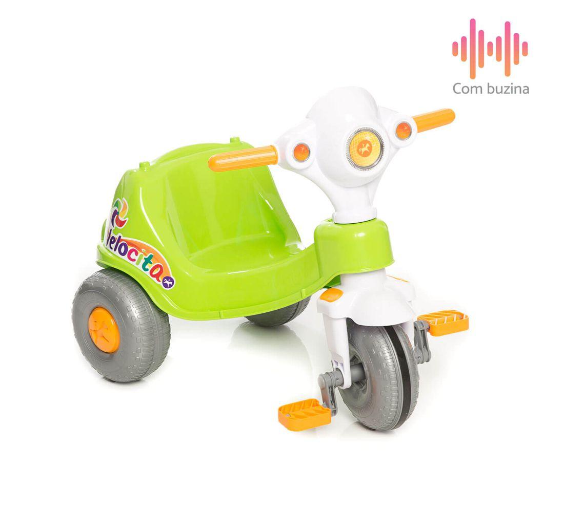 Triciclo Velocita 2 em 1 Verde 953 Calesita