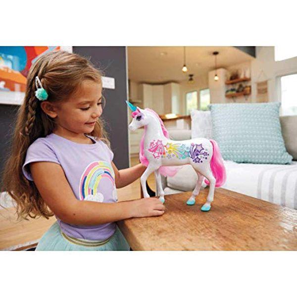 Unicórnio Branco com Luz e Som Barbie Dreamtopia GFH60 Mattel