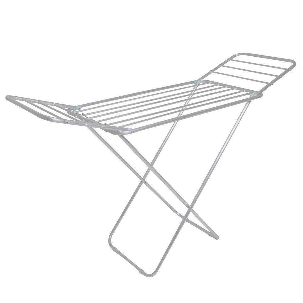 Varal de Chão com Abas Slim Alumínio Ref 6046Mor