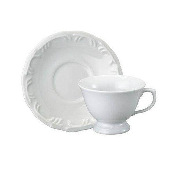 Xícara Chá com Pires 200 ml Linha Pomerode Branco Schmidt