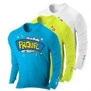 Camisa de proteção solar manga longa infantil Prolife UV UPF 50+
