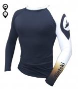 Camisa Lycra Manga Longa #Jetski Preta Proteção Solar UV UPF 50+